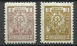 LITAUEN Lithuania 1923 Michel 209 - 210 * - Lithuania