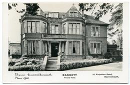 BOURNEMOUTH : BASSETT PRIVATE HOTEL, KNYVETON ROAD - Bournemouth (fino Al 1972)