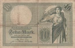 Germany #9b, 10 Mark 1906 Fine/Very Fine Banknote - [ 2] 1871-1918 : Duitse Rijk