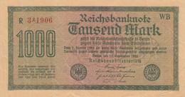 Germany #76b, 1000 Mark 1922 Very Fine Banknote - [ 3] 1918-1933 : République De Weimar