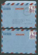 Norfolk Island 1955 Australian Territories Aerogramme X 2 With 10d Salt House Fine CTO & Unused - Norfolk Island