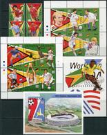Guyana 1994. Michel #4880/96+Bl.#435/36 MNH/Luxe. Sport. Soccer World Cup, USA-94. Football. (L22) - Guyana (1966-...)