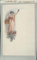 CHOCOLAT-LOUIT CARTE CHROMO Allégorie Automne Femme Fleurs Pommes  2020 Septembre 51 - Louit