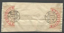 Estland Estonia 1932 Value Declared Cover Marking On Cover Out Cut  Wertbrief-Ausschnitt - Estonie
