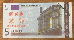 BILLET 5 EURO FACTICE CHINOIS EURO SCHEIN PAPER MONEY BANKNOTE - EURO