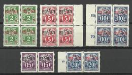 Estland Estonia 1928 Michel 68 - 72 As 4-Blocks & Pairs MNH/MH - Estonie