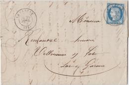 DEUX SEVRES LAC 1876 LA CRECHE TYPE 17 SUR CERES FIN DU GC - 1849-1876: Periodo Clásico