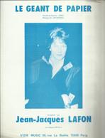 """""""Le Géant De Papier"""" - Jean-Jacques Lafon - Paroles De Sylvain Lebel - Musique De Jeff Barnel - Music & Instruments"""