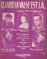 """""""Quand La Valse Est Là..."""" - Paroles Et Musique De René-Louis Lafforgue. Annie Cordy, André Claveau, Danielle Rouille. - Music & Instruments"""