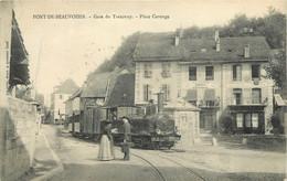 38 - PONT DE BEAUVOISIN - GARE DU TRAMWAY - PLACE CAROUGE - France
