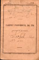Carnet Individuel De Tir 1921-1922  (PPP23946) - Documenten