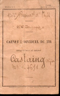 Carnet Individuel De Tir 1925..du 14e R.I.  (PPP23947) - Documenten