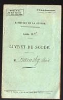 (militaria)  LIVRET  DE  SOLDE  1919 (PPP23951) - Documenten