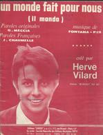 """""""Un Monde Fait Pour Nous"""" (Il Mondo) Hervé Vilard - Paroles Françaises J.Chaumelle - Musique Fontana-Pes - Music & Instruments"""