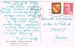 FRANKERS-SECAP RENNES 1ERE ET 5E LIGNE INCOMPLETE - Marcophilie (Lettres)