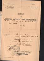 Hennebont : Extrait Du Registre Médical D'incorporation 1934 (PPP23954) - Documenten