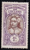 Polinesi Francese 1913 Sc. 21 Tahitian Girl Used - Oceanía (1892-1958)