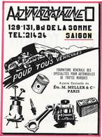 Carte Publicitaire - AUTO-VELO INDOCHINE - SAIGON  - Pour Tous Véhicules Ets MULLER & Cie PARIS - Tarjetas De Visita