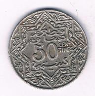 50 CENTIMES 1921  MAROKKO /7655/ - Marokko