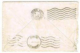 FLIER PARIS RP 2 DISTRIBUTION EN ARRIVEE SUR LETTRE DE CHERBOURG - Marcophilie (Lettres)