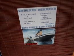 Titanic Prepaidcard  (Mint,New )2 Scans Rare - Bateaux