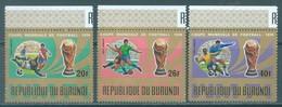 BURUNDI - 1974 - MNH/*** LUXE - MONDIAL CUP FOOTBALL - COB PA343-345 - Lot 21370 - 1970-79: Ungebraucht