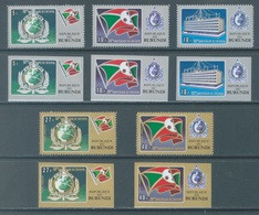 BURUNDI - 1973 - MNH/*** LUXE - INTERPOL - COB 561-563 PA271-272 PERF. AND IMPERF. - Lot 21360 - 1970-79: Ungebraucht