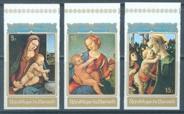 BURUNDI - 1972 - MNH/*** LUXE - CHRISTMAS PAINTS - COB 538-540 IMPERFORATED - Lot 21352 - 1970-79: Ungebraucht