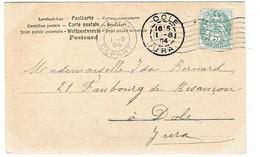 FLIER PARIS DEPART RF D SUR CPA BLANC - Marcophilie (Lettres)