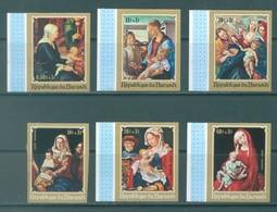 BURUNDI - 1970 - MNH/*** LUXE - CHRISTMAS PAINTS - COB  429-431 PA 185-187 IMPERFORATED - Lot 21339 - 1970-79: Ungebraucht