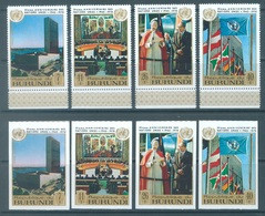 BURUNDI - 1970 - MNH/*** LUXE - ONU UNO - COB  PA178-181 PERF. AND IMPERFORATED - Lot 21337 - 1970-79: Ungebraucht
