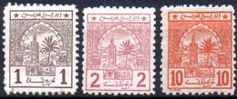Maroc Postes Chérifennes: Yvert N° 9-10-12* - Poste Locali