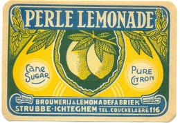 Oud Etiket / Ancienne étiquette Perle Lemonade - Brouwerij Strubbe Ichteghem - Fruits & Vegetables