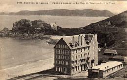 Environs De LANNION. PERROS-GUIREC  La Plage De Trestrignel Et L'Île Tomé. Collection VILLARD écrite 1908 - Perros-Guirec