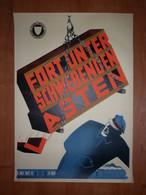 Chemin De Fer Eisenbahn Zug Spoor Spoorwegen Trein Rail Road Train 1953 Affiche Poster - Railway