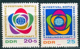 DDR - Mi 1377 / 1378 - ** Postfrisch (B) - 20+5-25Pf  Weltfestspiele Der Jugend - [6] Democratic Republic
