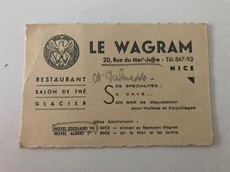 Ancienne Carte Publicitaire NICE -  LE WAGRAM Restaurant, Salon De Thé, Glacier - Werbung