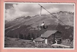 OUDE POSTKAART ZWITSERLAND -  SESSELLIFT  DAVOS - ISCHALP-BRAMA-BUEL - GR Grisons