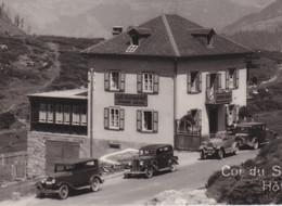 OUDE POSTKAART ZWITSERLAND -  SUISSE -  SIMPLON - HOTEL - AUTO - VS Valais