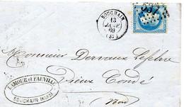 Nord - LAC Affr N° 29B Obl GC 537 - Càd Type 15 Bouchain - 1849-1876: Periodo Classico