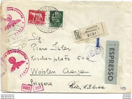 150 - 53 - Enveloppe Exprès Envoyée De Firenze En Suisse - Censure - WO2