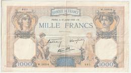 Billet 1000 Francs - Type Ceres Et Mercure - 18 - 07 - 1940 - EB. - 1 000 F 1927-1940 ''Cérès Et Mercure''