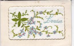 BELLE CARTE BRODEE  / PRENOM LOUISE - Firstnames