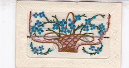 TRES BELLE CARTE BRODEE  / PORTE CARTE  / PANIER DE FLEURS - Firstnames