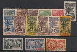 Dahomey - 1906 - N°Yv. 18 à 32 - Faidherbe - Série Complète - Neuf * / MH VF - Nuovi