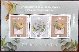"""Liechtenstein 2020: """"i Denk A Di - Handgeschriebenes Ist Persönlich & Bringt Uns Näher Zusammen""""  (DieMarke Li) - Blocchi & Fogli"""