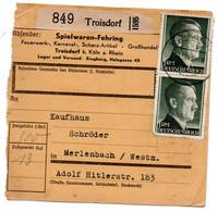 Allemagne  //  Colis Postal  //   De Troisdorf  // 8-12-43 - Briefe U. Dokumente