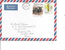Malaysia ( Lettre Par Avion De 2003 De Butterworth Vers La Thailande à Voir) - Malaysia (1964-...)