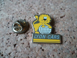 PIN'S  LYON  CAR  AUTOBUS  LION - Transport Und Verkehr