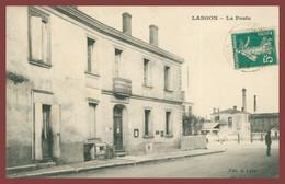 LANGON - La Poste - Animée - Edit. A. LABAT - 1910 - Langon